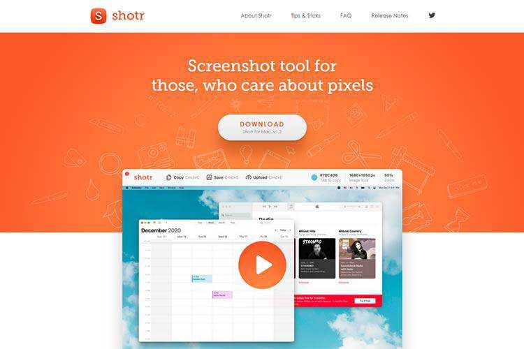 Example from Shotr Screenshot App
