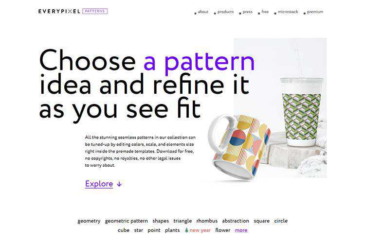 Example from Everypixel Patterns