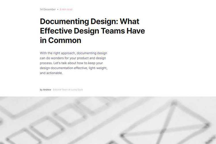 Example from Documenting Design: What Effective Design Teams Have in Common