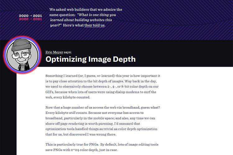 Example from Optimizing Image Depth
