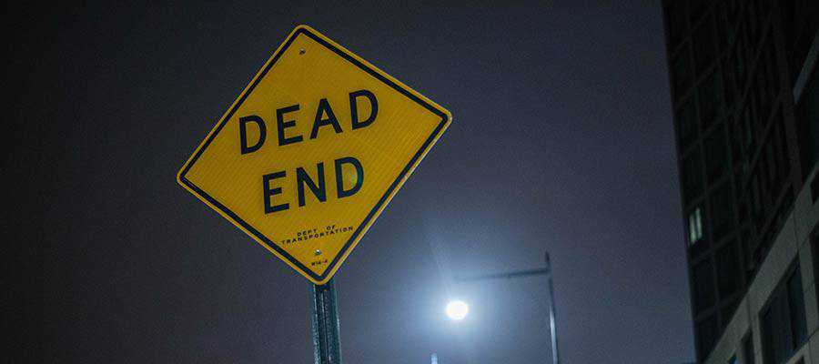 A Dead End sign.