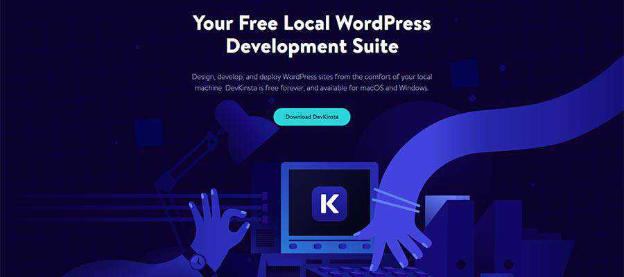 Página de inicio de DevKinsta