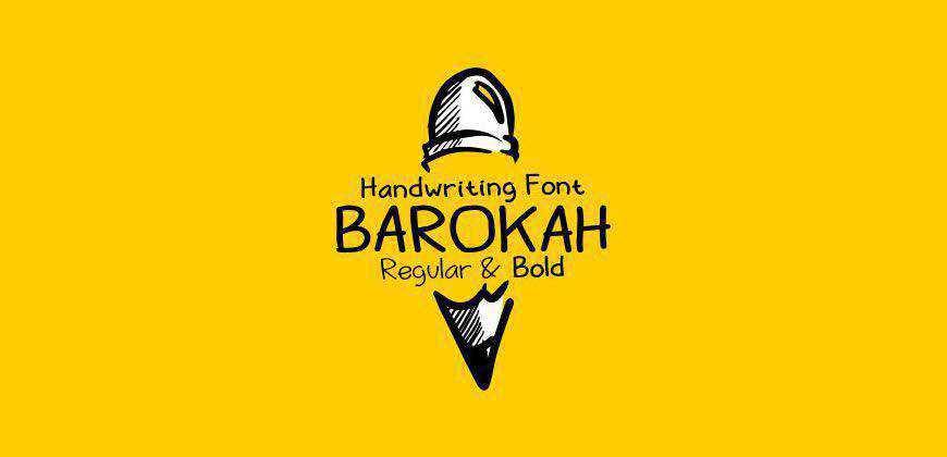 Barokah free clean font typeface
