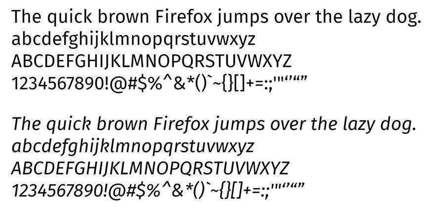 fira free clean font typeface