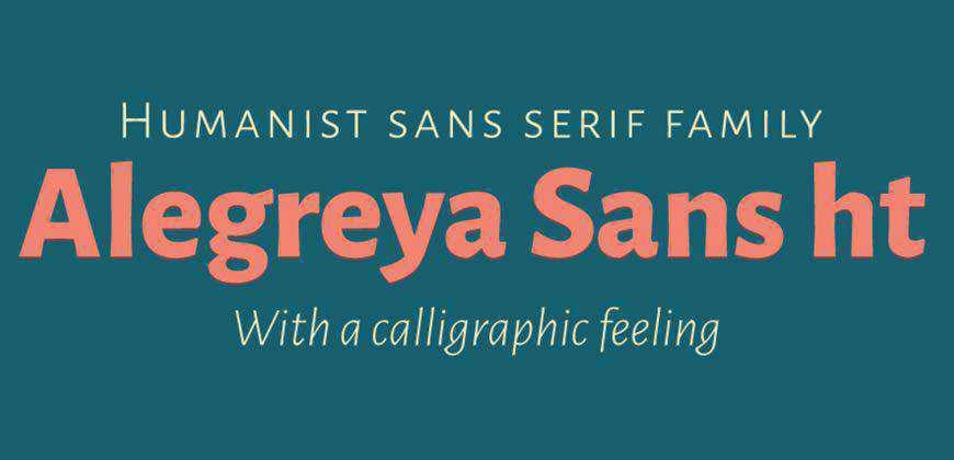 Alegreya Sans ht free clean font typeface