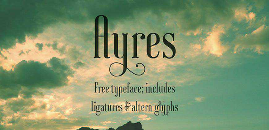 Ayres free clean font typeface