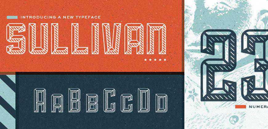 Sullivan free clean font typeface