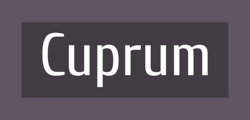 Cuprum free clean font typeface