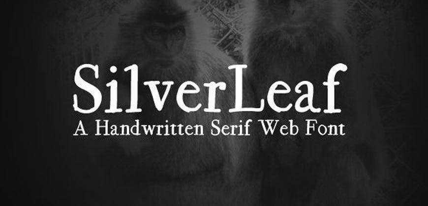 SilverLeaf Handwritten Web free clean font typeface