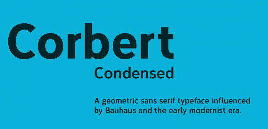 Corbert Condensed free clean font typeface