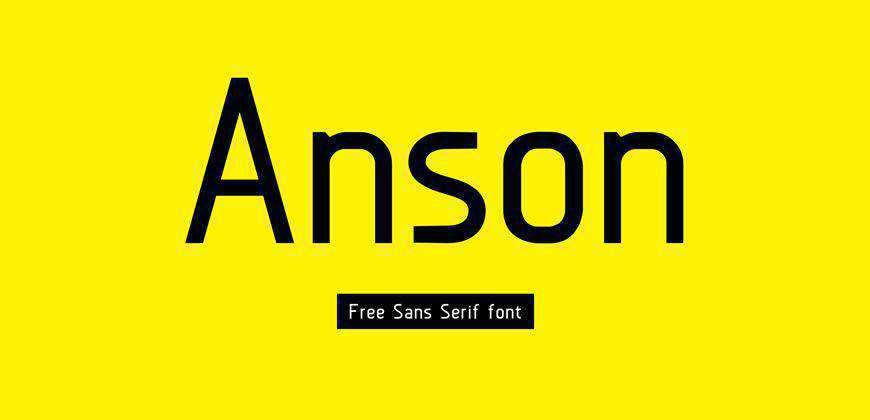 Anson free clean font typeface