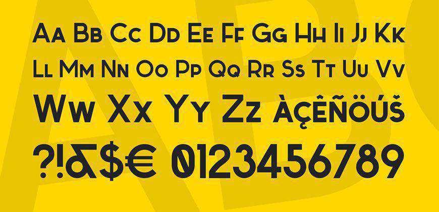 Sabado free clean font typeface