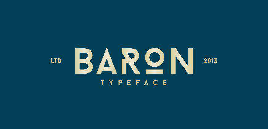 Baron free clean font typeface