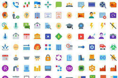 Top 50 Free Flat Icon Sets for UI Design