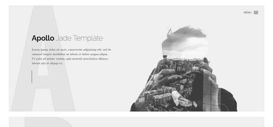 free Apollo One-Page Web Template for Photographers