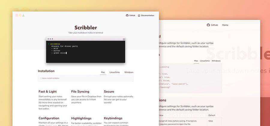 Freebie Scribbler Website Template HTML Sketch