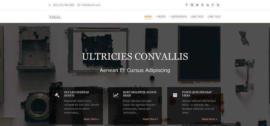 viral clean minimal maega-menu hover effects html5 template website responsive