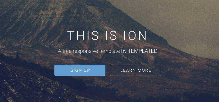 ion blog minimal full-width mega-menuhtml5 template website responsive
