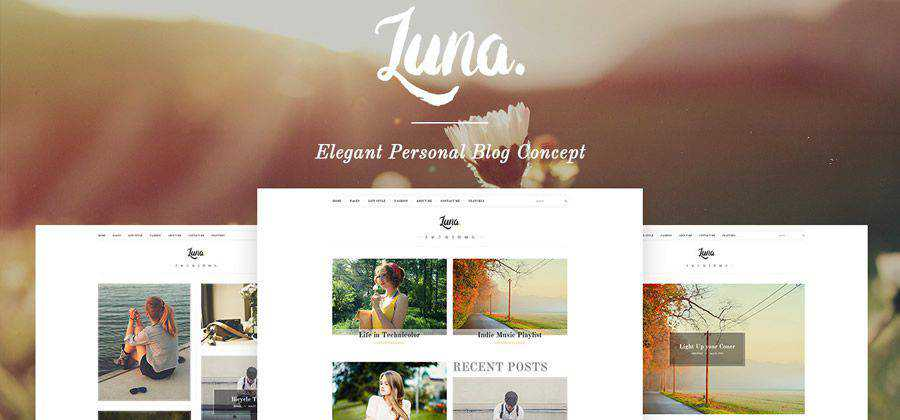 Luna Personal Blog html5 template website responsive free