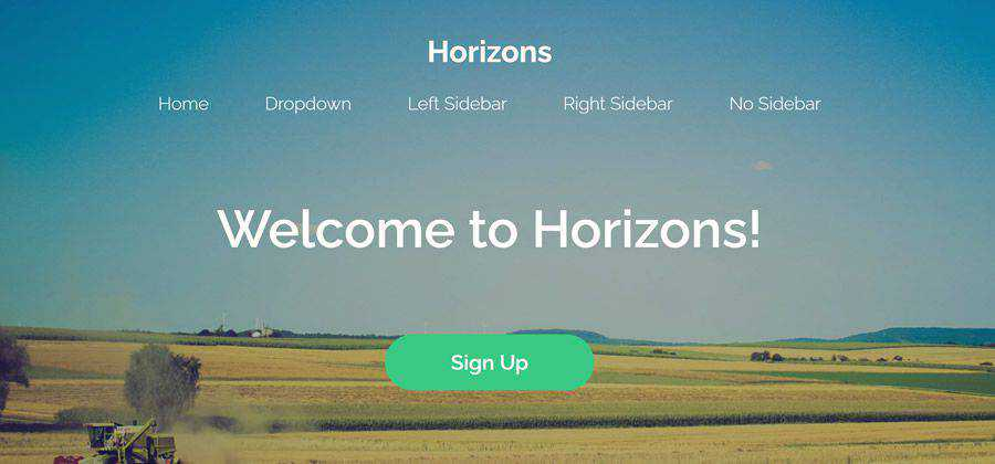 Horizons clean minimal html5 template website responsive