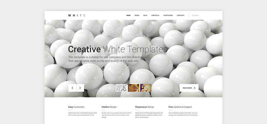 White One-Pager Responsive Template free HTML