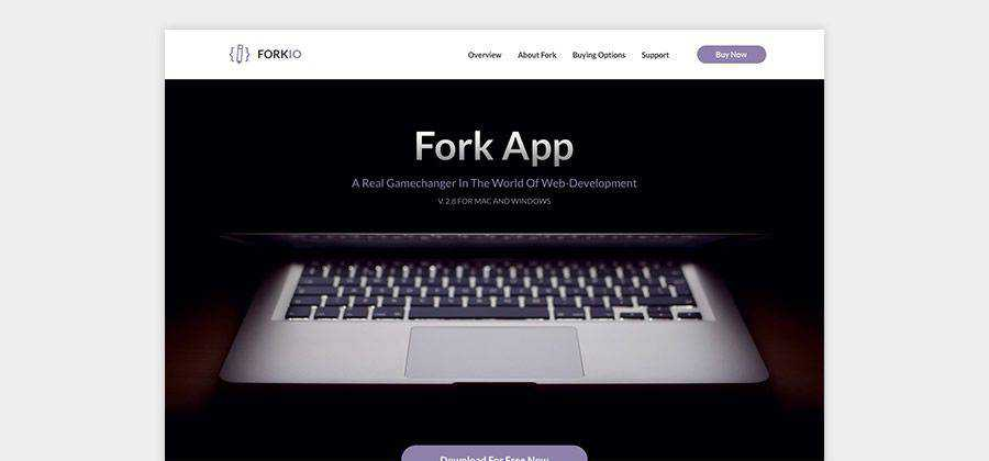 Forkio One-Pager Responsive Template free HTML