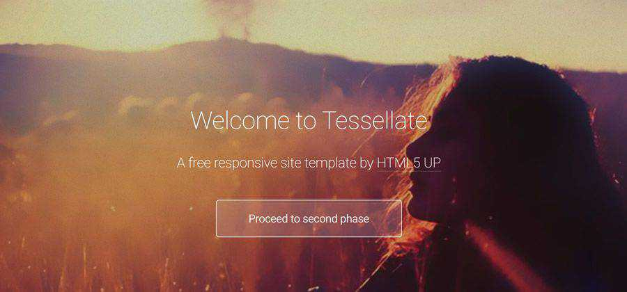 Tessellate css responsive HTML template web design free