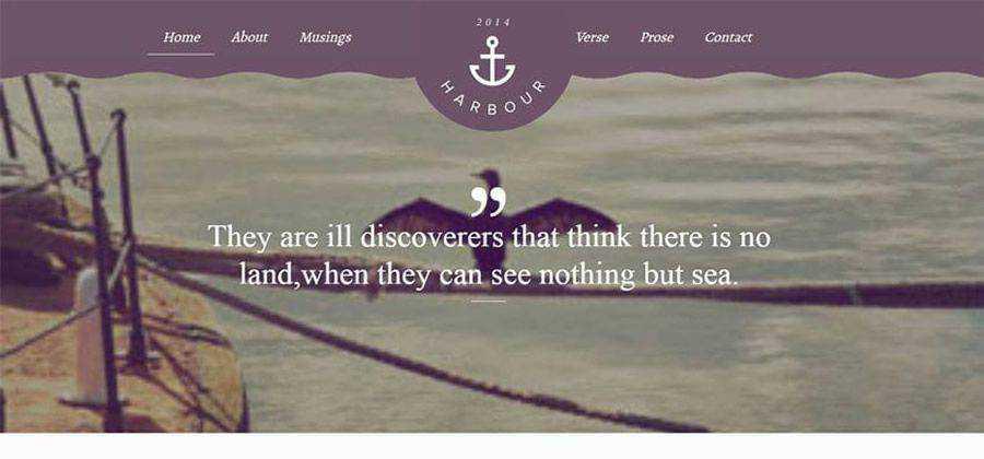 Harbour css flat portfolio responsive HTML template web design free