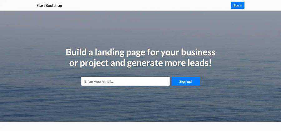 Landing Page Bootstrap html css responsive template web design free
