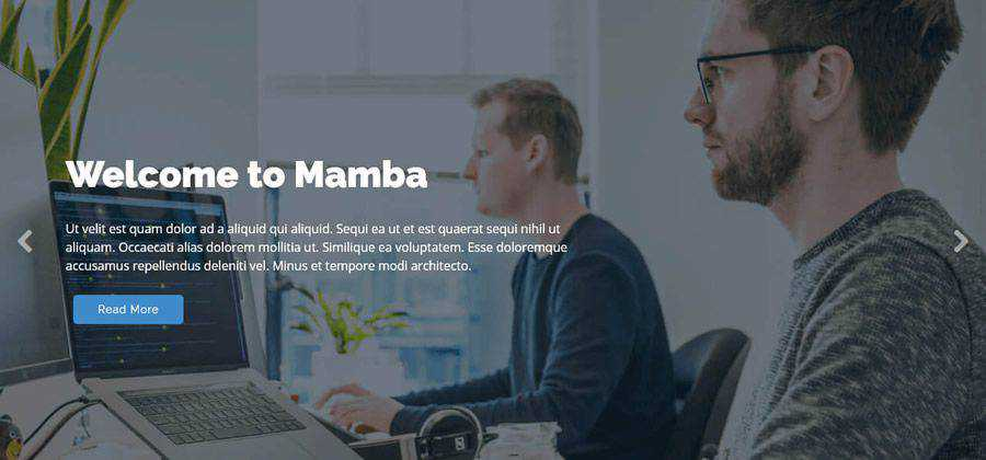 Mamba single-page bootstrap html css responsive template web design free