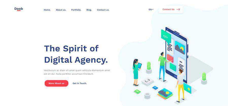 free Doob Agency HTML Template