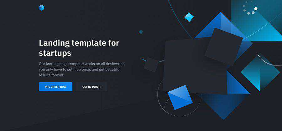 Solid Landing Page Template free