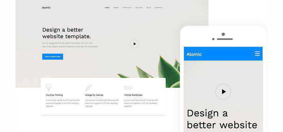 Atomic HTML5 Website Template free