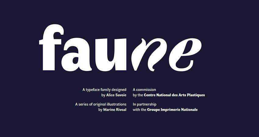 Sans Serif Free Font Designers Creatives Faune
