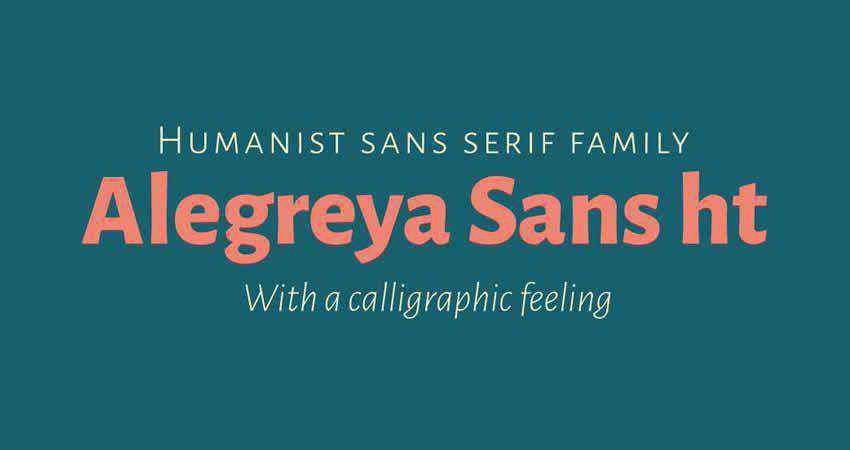 Sans Serif Free Font Designers Creatives Alegreya Sans HT