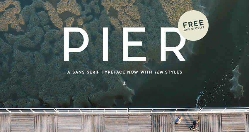 Sans Serif Free Font Designers Creatives Pier Sans