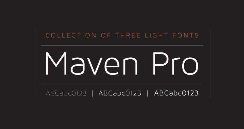 Sans Serif Free Font Designers Creatives Maven Modern