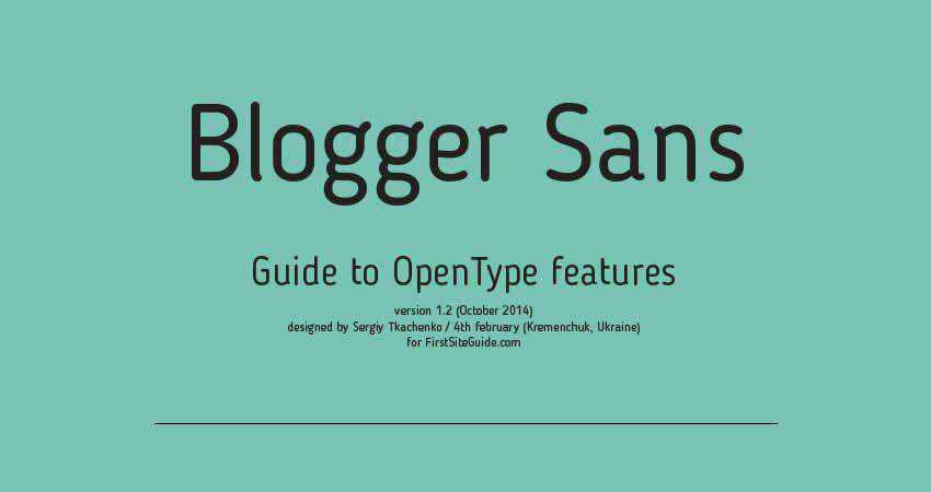 Sans Serif Free Font Designers Creatives Blogger Sans