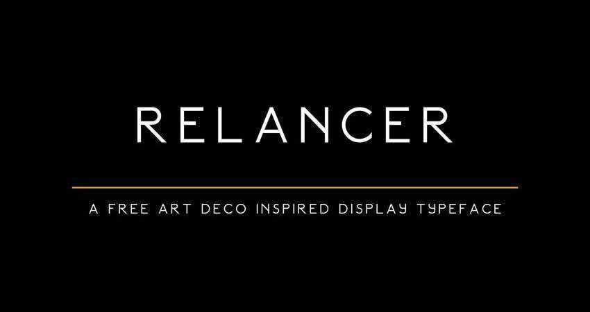 Sans Serif Free Font Designers Creatives Relancer Display Typeface