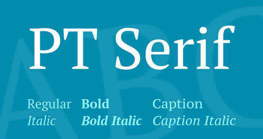 Serif Free Font Designers Creatives PT Serif
