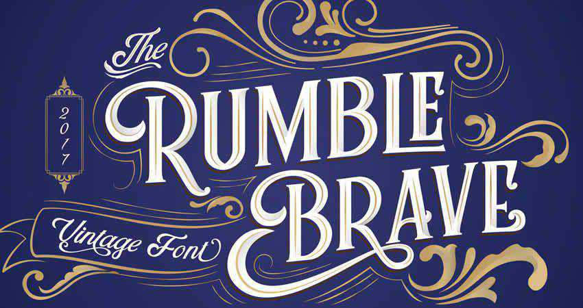 Serif Free Font Designers Creatives Rumble Brave Vintage Fonts