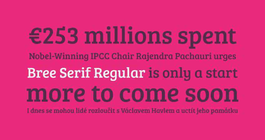 Serif Free Font Designers Creatives Bree Serif