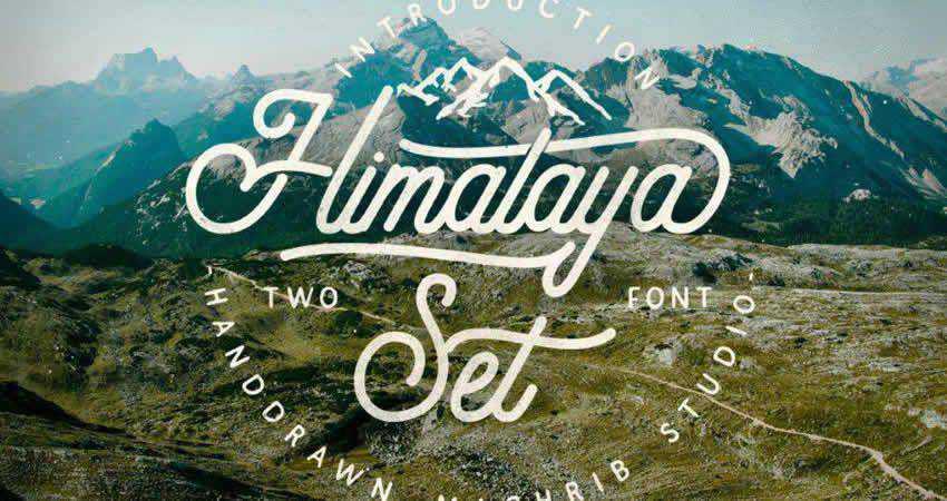 Serif Free Font Designers Creatives Himalaya Set Type