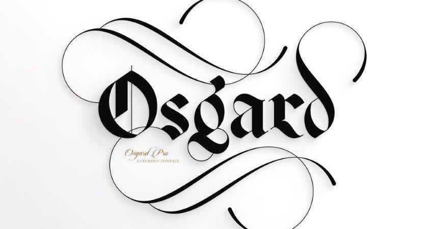 Serif Free Font Designers Creatives Osgard Pro