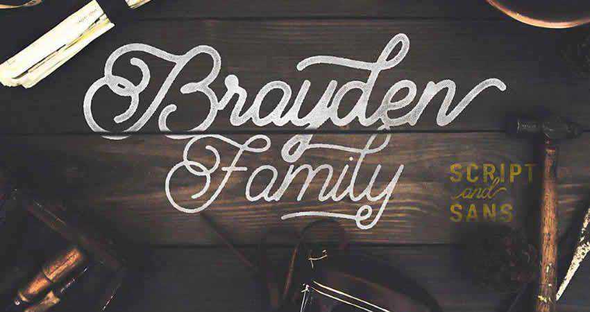 Serif Free Font Designers Creatives Brayden Script Family
