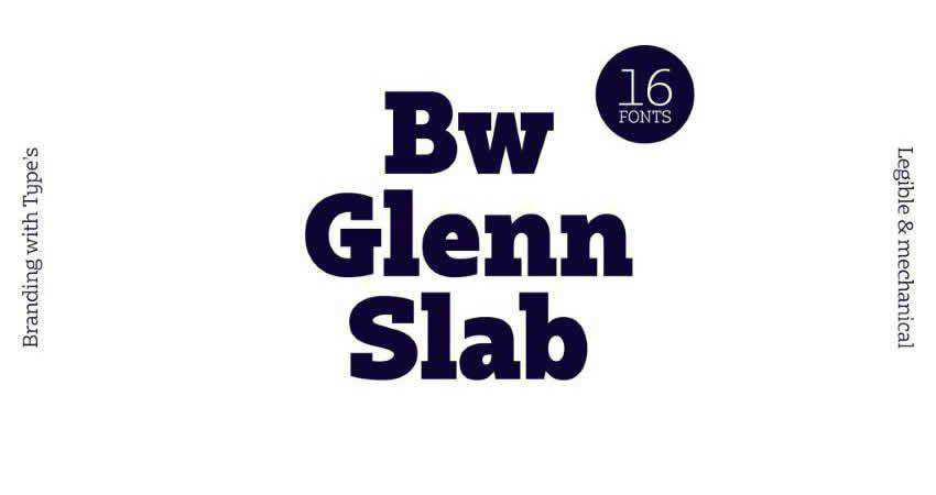 Slab Serif Free Font Designers Creatives Bw Glenn Slab font Family