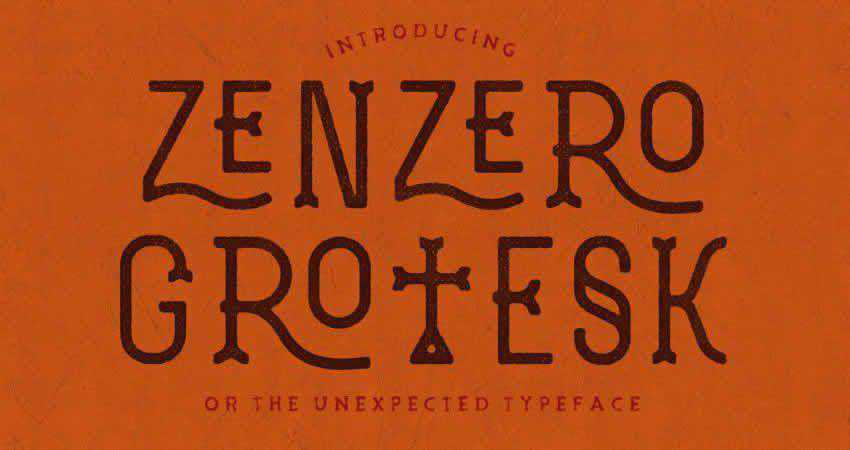Slab Serif Free Font Designers Creatives Zenzero Grotesk Typeface