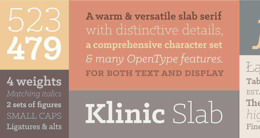 Slab Serif Free Font Designers Creatives Klinic Slab Serif