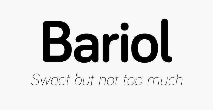 Bariol free title headline typography font typeface