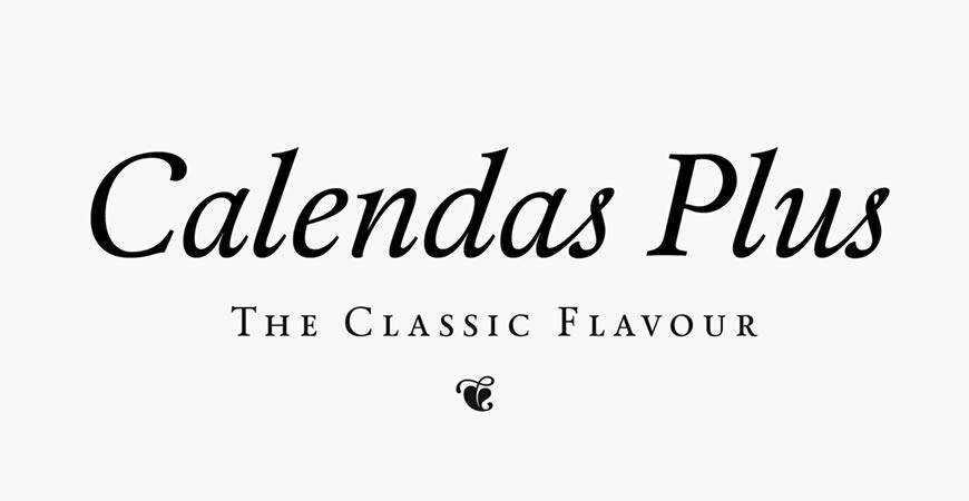 Calendas Plus free title headline typography font typeface